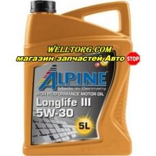 Моторное масло 5W30 0100282 Alpine Longlife III