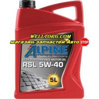 Моторное масло 5W40 0100142 Alpine RSL