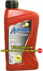 Моторное масло 5W40 0100161 Alpine PD Pumpe-Duse