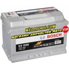 Аккумулятор 0092S50080 Bosch S5 Silver 77Ah (780A)