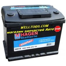 Аккумулятор 56019 Hagen 60Ah (500A)