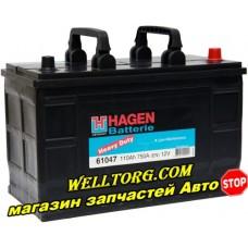 Аккумулятор 61047 Hagen Heavy Duty 110Ah (750A)