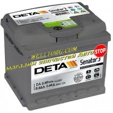 Аккумулятор DA530 Deta Senator 53Ah (540A)