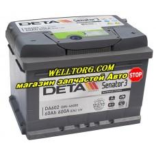 Аккумулятор DA602 Deta Senator 60Ah (600A)