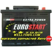 Аккумулятор Eurostart 55Ah (430A) R