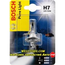 Галогеновые лампы H7 1987301012 Bosch 12V 55W