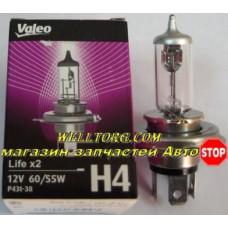 Галогеновые лампы H4 032509 Valeo Life x2 12V 60/55W