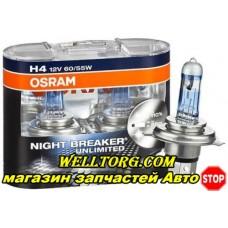 Галогеновые лампы H4 +110% 64193NBU Osram 12V 60/55W