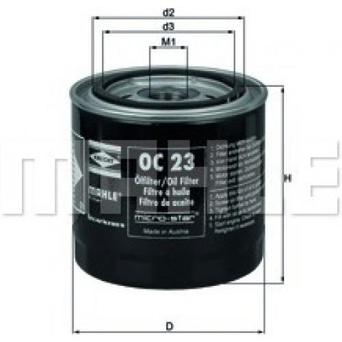 oc23 knecht mahle filter. Black Bedroom Furniture Sets. Home Design Ideas
