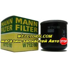 Масляный фильтр W712/80 Mann Filter